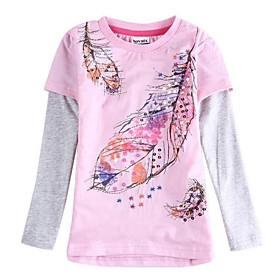 camiseta ni?amisa floral hoja de ni?osa camisas de los ni?camisetas bordadas