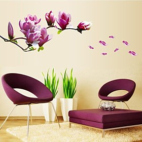 Florals Botanical Wall Stickers Plane Wall Stickers Decorative Wall Stickers, Vinyl Home Decoration Wall Decal Wall Decoration