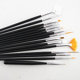 15PCS Nail Art Brush Set with 5PCS Dotting Tool