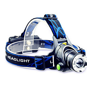 TD286 Headlamps Headlight LED Cree T6 1 Emitters 800 lm with Batteries and Charger Zoomable Waterproof Adjustable Focus Camping / Hiking / Caving Cycling / Bi