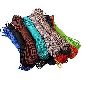 Cuerda Cuerda de Paracaídas Impermeable Multi Function Conveniente Nailon Camping Verde Azul Rosa