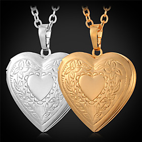 Necklace Lockets Necklaces Jewelry Daily / Casual Fashion Copper / Gold Plated Gold 1pc Gift