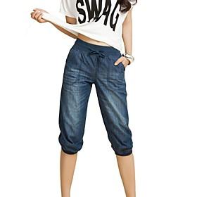 Pantalons pour Femmes  ( Coton ) Jeans  -  Moyen  -  non élastique