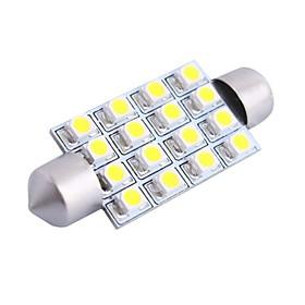 GC 42mm 4W 200LM 6000K 16x3528 SMD White LED for Car Reading / License Plate / Door Lamp (DC12V)
