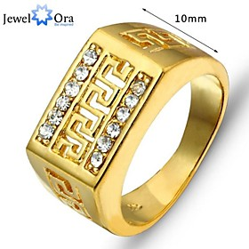 Image of 2015 Fashion Vintage Real Gold Looking Ring 18K Gold Plated Rings Good Quality Gold Men Ring Jewelry