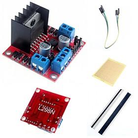 L298N Dual H Bridge Stepper Motor Driver Controller Board Module  and Accessories for Arduino