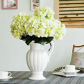 """16.9 """"zes hoofden aritificial zijde hortensia set van 1 (meer kleuren)"""