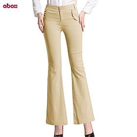 Pantalons pour Femmes  ( Viscose/Spandex/Nylon ) Pour Bottes (Bootcut)  -  Moyen  -  Micro-élastique