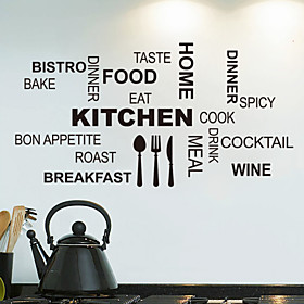 Wall Stickers Wall Decals,  Kitchen English Words  Quotes PVC Wall Stickers