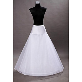 Wedding Slips Floor-length A-Line Slip With Wedding Accessories