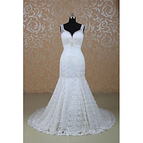 Mermaid sweethearted floor length sweep train expensive for Wedding dress shipping box
