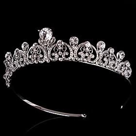 Vintage Wedding Bride Austria Rhinestone Silver Hair Accessories headpiece plus size,  plus size fashion plus size appare