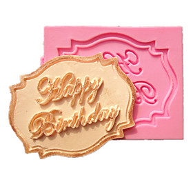 Happy Birthday Cupcake Card Fondant Cake Molds Decoration Chocolate Mould For The Kitchen Baking For Sugar Candy 2911778