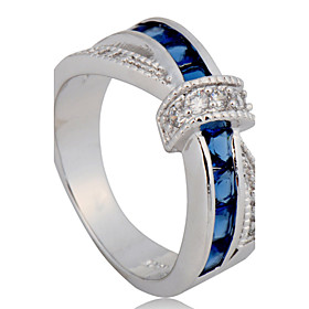 5 Color Size 6/7/8/9/10 High Quality Women  Rings 10KT White Gold Filled Ring