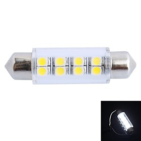 GC 41mm 1.5W 100LM 6000K 8x3528 SMD White LED for Car Reading / License Plate / Door Lamp (DC12V)