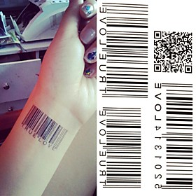 1 pcs Tattoo Stickers Temporary Tattoos Message Series Eco-friendly / Novelty Body Arts Hand / Arm / Shoulder 2795818