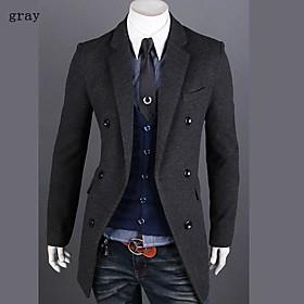 moda delgado largas chaquetas de manga larga de los hombres