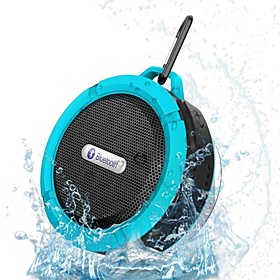 Portable Waterproof Bluetooth 3.0 Speaker  For Outdoor/Shower with Built-in Microphone  Suction Cup 2861791