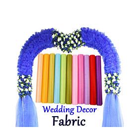 Image of 0.485M Mirror Organza Stiff Fabric for Wedding Drape Decoration Chair Sashed Ribbon Mesh