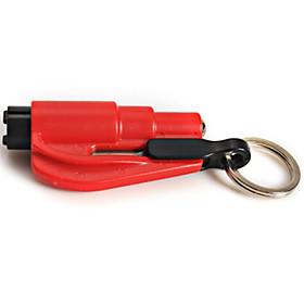 Window Glass Breaker Hammer Seat Belt Cutter with Keychain Mini Car Rescue Emergency Tool (Random Color)