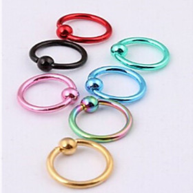 Body Piercing Jewellery Fashion Stainless Steel  Eyebrow Nose Lip Ring Body Jewelry Piercing(Random Color) Christmas Gifts