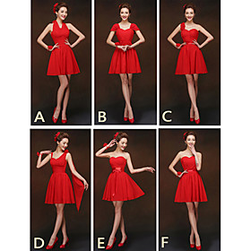 Mix Match Dresses Short/Mini Chiffon 6 Styles Bridesmaid Dresses (2840134)