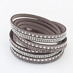 Women's Long Wrap Bracelet - Rhinestone Ladies,
