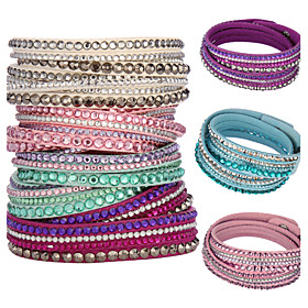 Fashion Women's Multilayer Crystal Bracelets(Assorted Colors) Jewelry Christmas Gifts