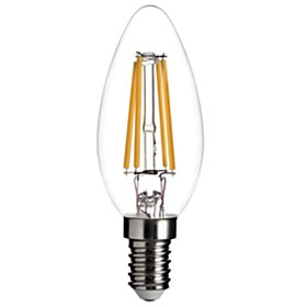 4W E14 LED Filament Bulbs C35 COB 400LM lm Warm White Dimmable / Decorative AC 220-240 V