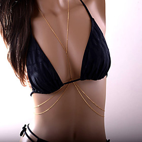 Women's Body Jewelry Belly Chain Body Chain Harness Necklace Copper Simulated DiamondUnique Design Statement Jewelry Fashion Sexy Bikini