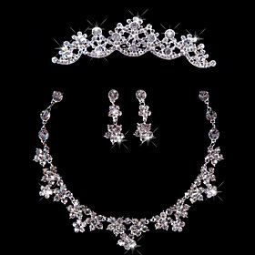 Fashion Ladies'/Women's Alloy Wedding/Party Jewelry Set With Rhinestone