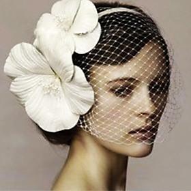 Women Satin/Net Flowers/Fascinators With Wedding/Party Headpiece