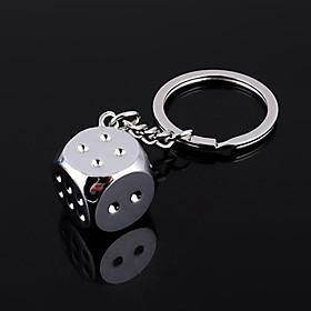 Zinklegering Keychain Favors-1 Stuk / Set Sleutelhangers Niet-gepersonaliseerd Zilver