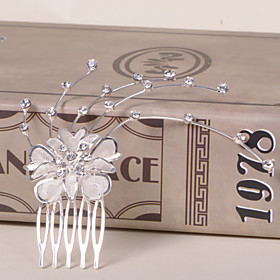 Alloy Hair Combs With Rhinestone Wedding/Party Headpiece 3040947