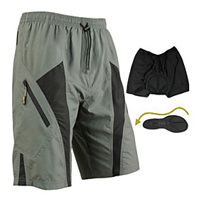 SANTIC Cycling Shorts Men's Bike Breathable / Quick Dry / Wearable / 3D Pad Shorts / Padded Shorts/Chamois / Baggy shorts / Bottoms