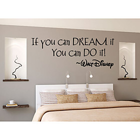 Wall Stickers Wall Decals,   English Words  Quotes PVC Wall Stickers