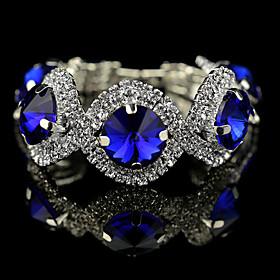 Women's Crystal Charm Bracelet Strand Bracelet Tennis Bracelet - Crystal Bracelet Green / Blue For Wedding Party Daily