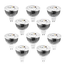 10pcs 4 W 320 lm MR16 LED Spotlight 4 LED Beads High Power LED Dimmable Warm White / Cold White / Natural White 12 V / 10 pcs / RoHS