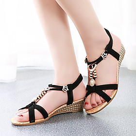 Women's Shoes  Flat Heel Flip Flops Sandals Outdoor/Dress/Casual Black/Red/White