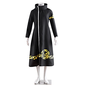 Inspired by One Piece Trafalgar Law 2 Years Later Cosplay Cloak Anime Cosplay Costumes Cosplay Suits Print Long Sleeve Coat For Male Female 974143