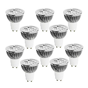 10pcs 4W 400 450 lm GU10 LED Spotlight 4 leds High Power LED Dimmable Warm White Cold White White 220 240