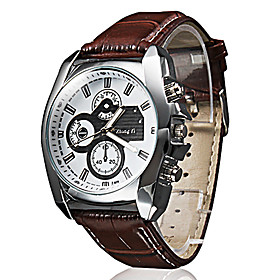 Men's Business Style PU Leather Band Quartz Wrist Watch (Assorted Colors) Cool Watch Unique Watch Write/Black Watch Fashion Watch