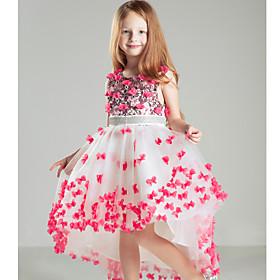 Vestido de ni?e las flores - Corte Evas?ola Corte - Sat?Sin Mangas