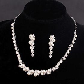 Women's Silver/Alloy Wedding/Party Jewelry Drop White Rhinestones/Crystal/Di..