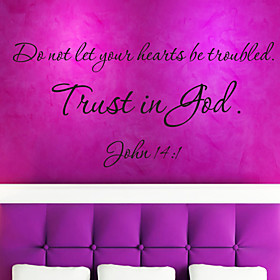 Quote Wall Decals Trust Is God Removable Letting Quote Vinyl Wall Stickers Home Decor ZY8198