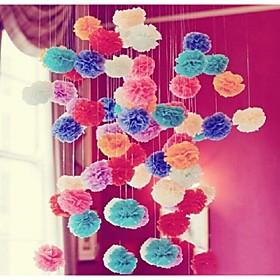 Wedding Décor 10pcs 4 Inch(15cm) Tissue Pom Poms Flower for Monther's Day Birthday  Decor