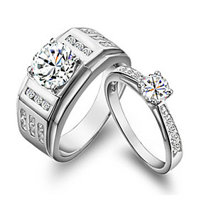 0.85ct Male Ring 0.5CT Female Ring SONA Simulate Diamond Couple Ring Jewelry..
