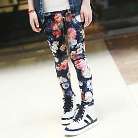 Pantalones Chica de - Verano - Acr?co/Raso/Algod?ezcla de Algod?unto/Licra/Algod?rg?co - Manga Corta