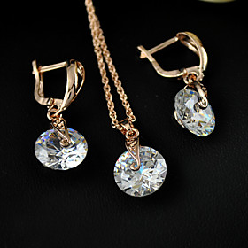Women's Cubic Zirconia Gift Daily Cubic Zirconia Alloy Earrings Necklaces