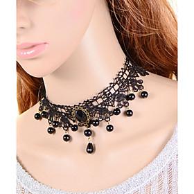 Vintage Bead Gem Necklace